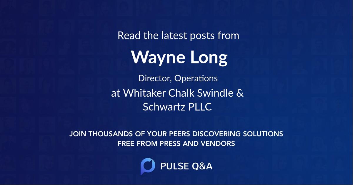 Wayne Long