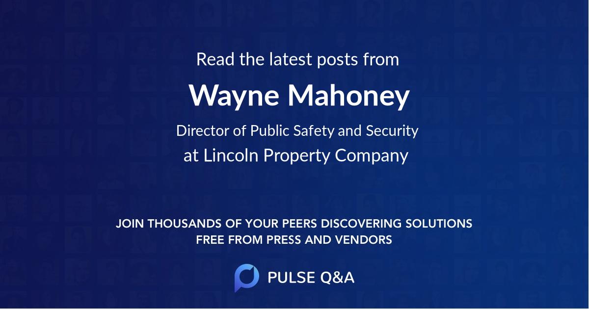 Wayne Mahoney