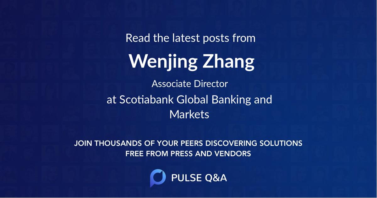 Wenjing Zhang