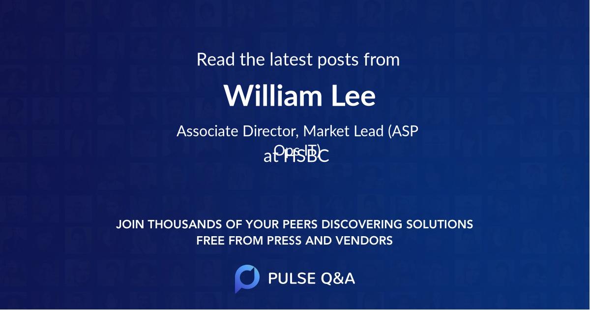 William Lee
