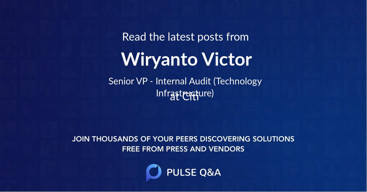 Wiryanto Victor