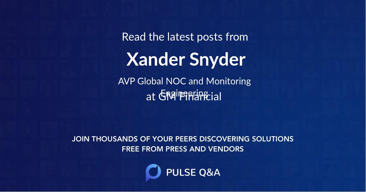 Xander Snyder
