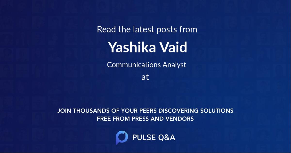 Yashika Vaid