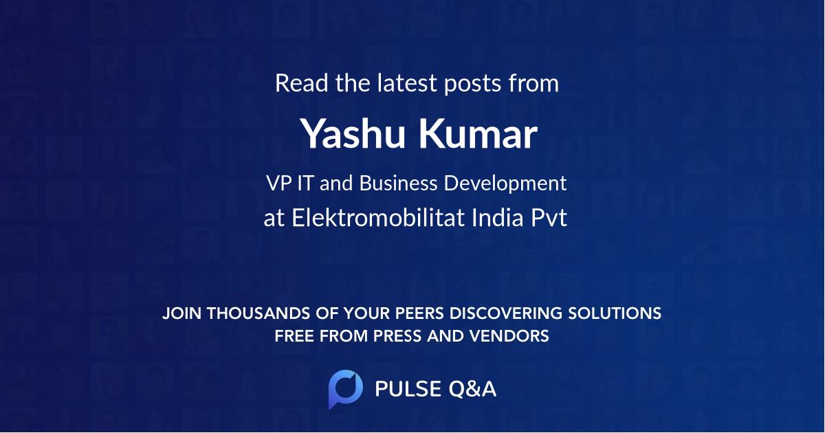 Yashu Kumar