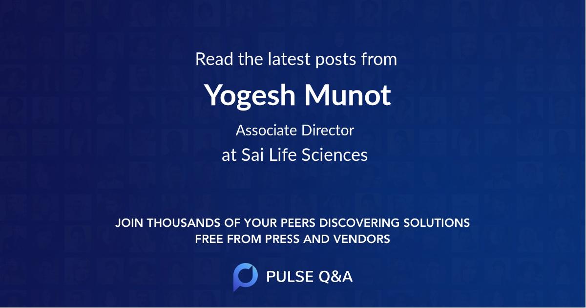 Yogesh Munot
