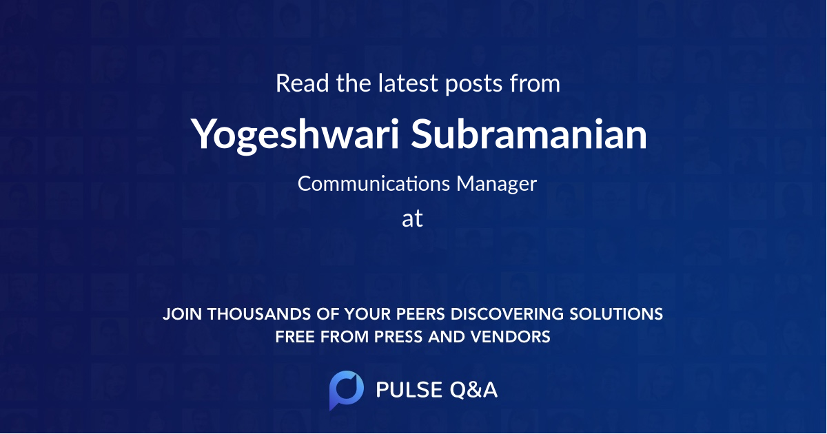 Yogeshwari Subramanian