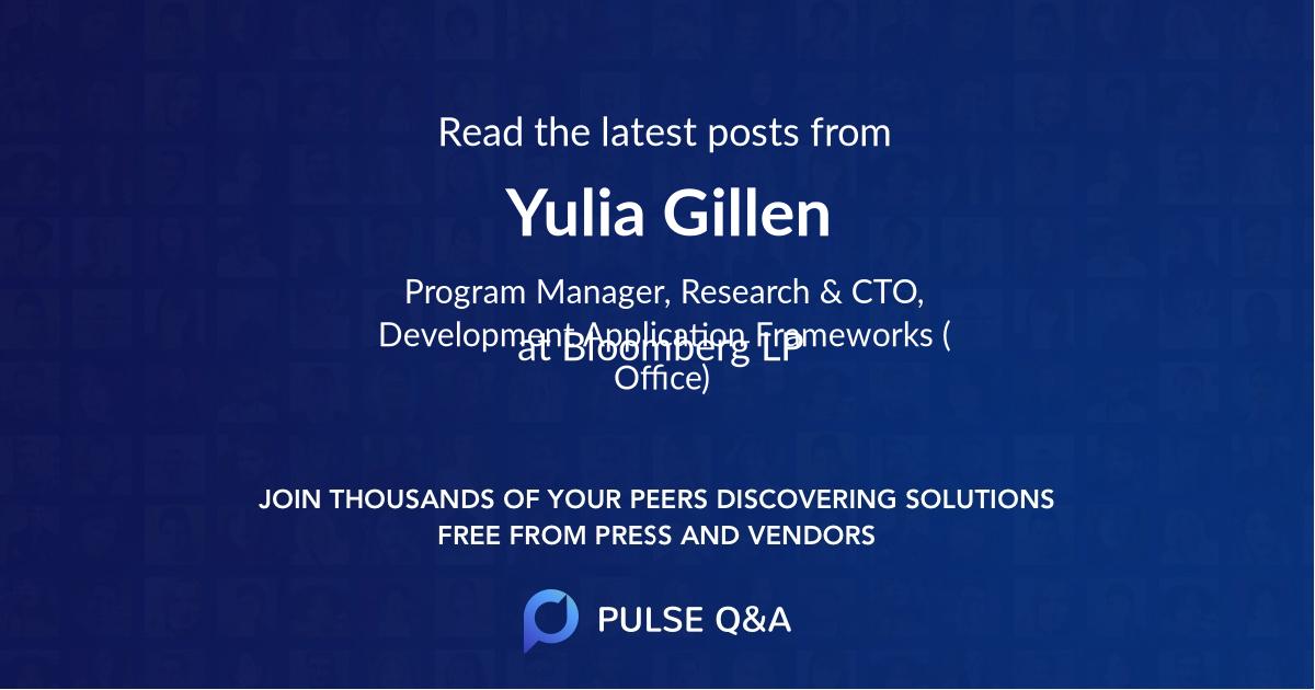 Yulia Gillen