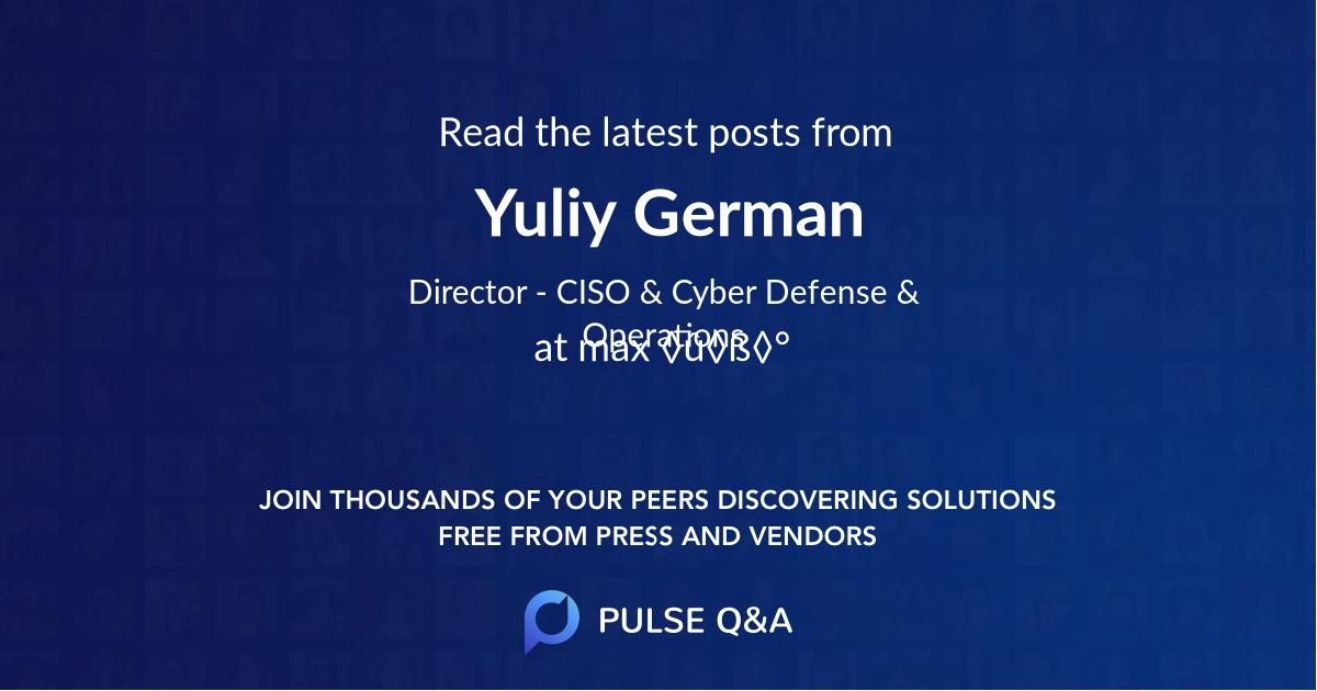Yuliy German