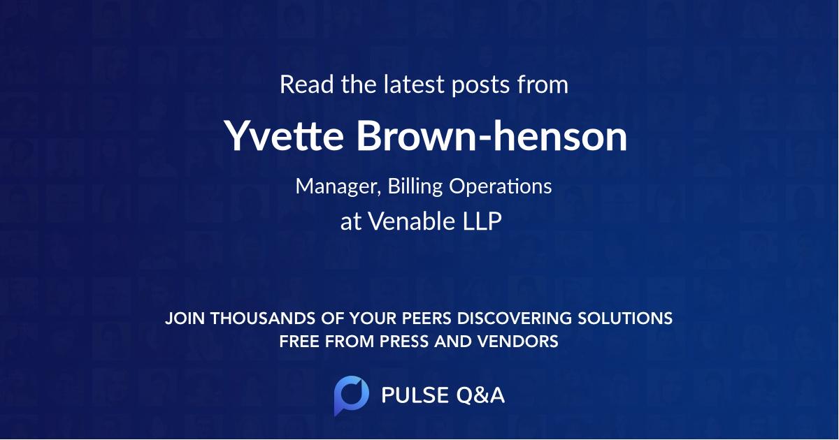 Yvette Brown-henson