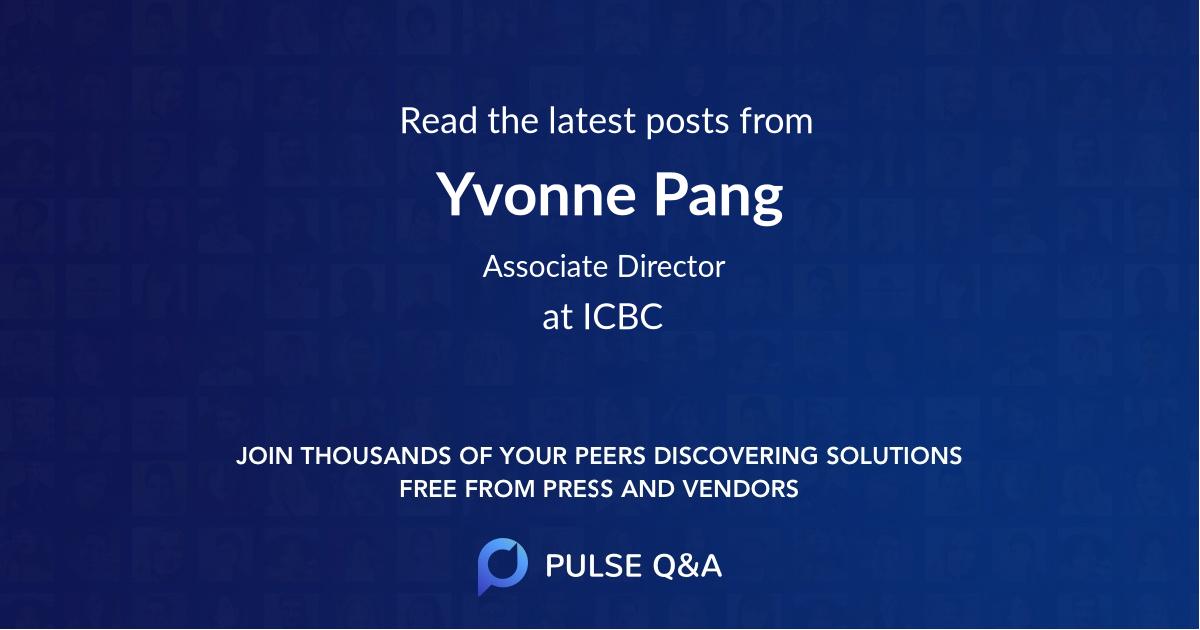 Yvonne Pang