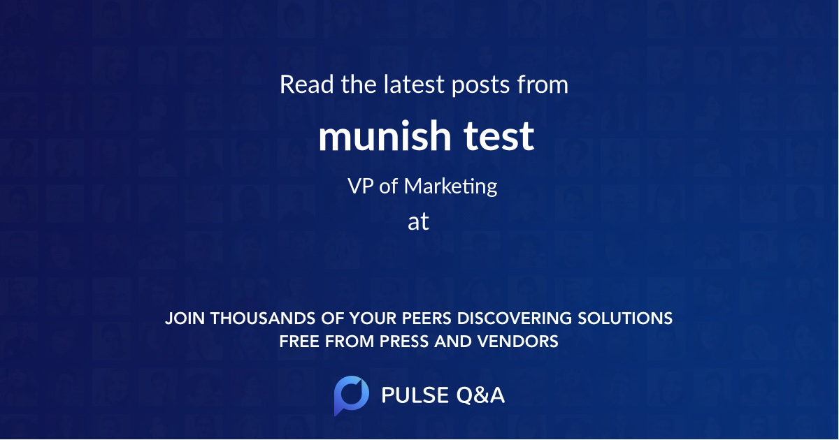 munish test