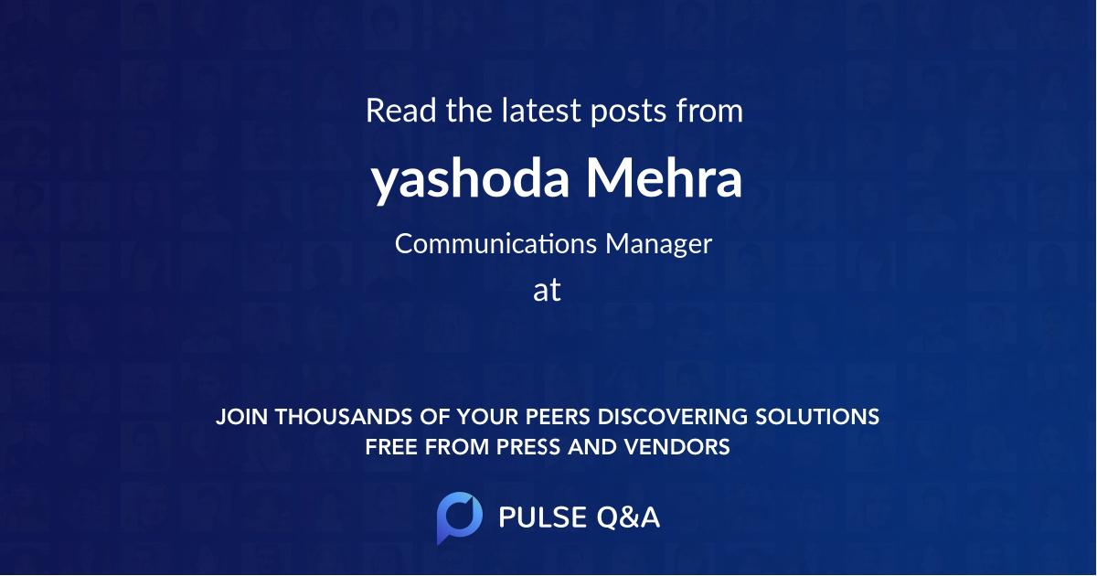 yashoda Mehra